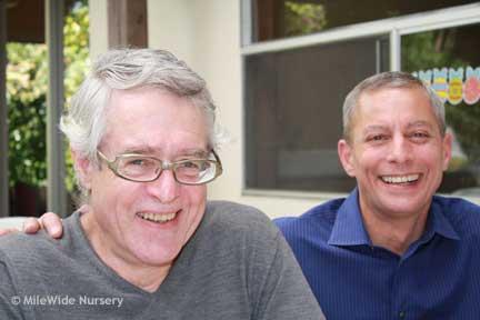 Steve & Vinny at Easter brunch.