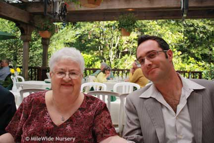 My Grandma Sarah & my brother Toby at Easter brunch.